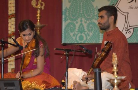 Neha-Siddharth (Violin Duet), Vignesh (Mridangam)